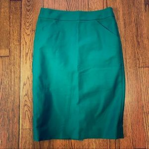FINAL MOVING SALE - Green J. Crew Pencil Skirt